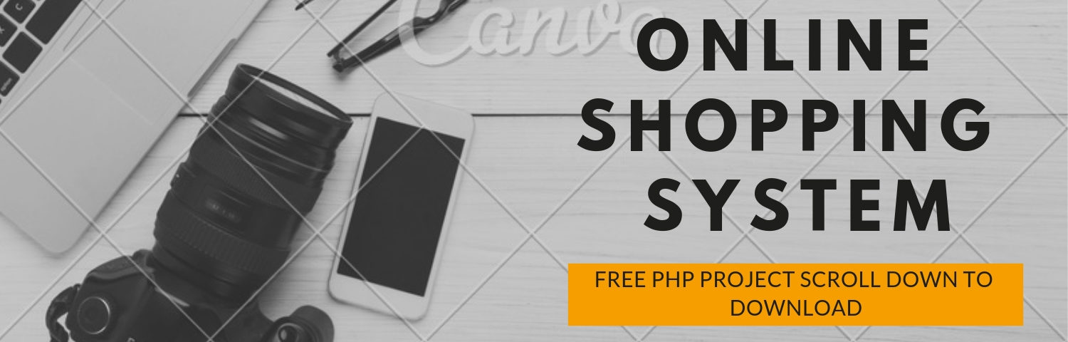 FREE ONLINE SHOPPING PHP PROJECT